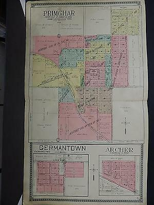 Iowa, O'Brien County, 1911, Plat Map, Double Page, City of Primghar