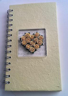 Exquisitely Detailed Address Book Spiral Bound Yellow / Lilac /Mothers Day/Gran