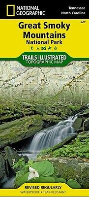 Great Smoky Mountains National Park National Geographic Trail Map Waterproof