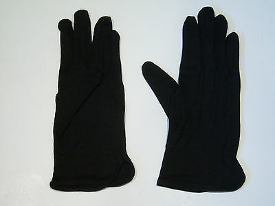 New Black Cotton Unisex Boys Girls Parade Gloves for age 7-10 Years