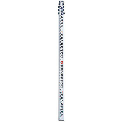 16' Aluminum Telescopic Level Rod in 10ths w/bag For Surveying Contractor Grade