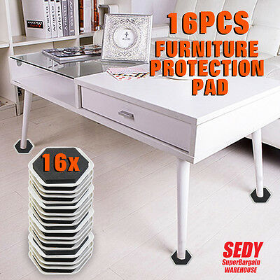 16x Floor Protection Pad Floor Protectors Anti Scratch Table Desk Chair Leg Mat