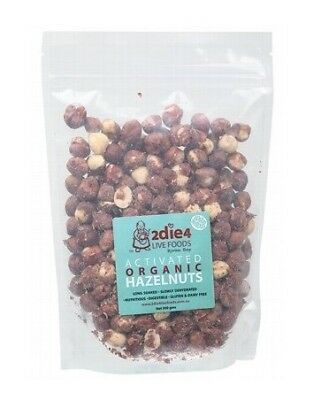 2die4 Live Foods Activated Organic Hazelnuts 300g