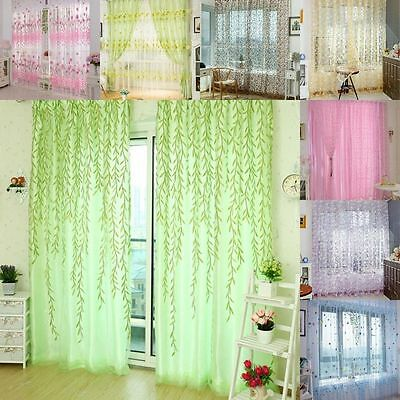 Lots Chic Home Room Voile Window Curtain Door Drape Panel Sheer Scarf Divider