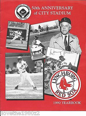 Doug Wilder  66th Virginia Governor Autographed Lynchburg Red sox yearbook 1990