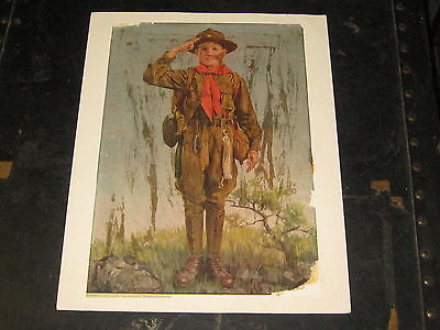 Ladies Home Journal Page of F. S. Brunner's a Boy Scout Dispatch Bearer 1918  cp