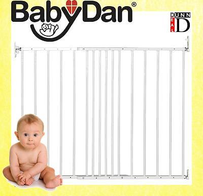 BabyDan Multidan Extending Wide Metal Adjustable Safety Stair Baby Gate (White)