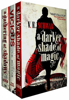 A Darker Shade Of Magic Series 3 Books Collection Set Gathering of Shadow, Vicio