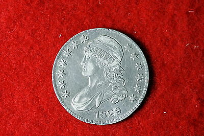 Cyberspacecoins 1829 Nice Grade Early Capped Bust Liberty Half Dollar MLF