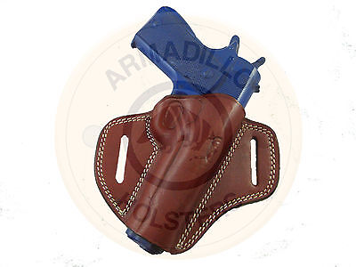 Armadillo Holsters Tan Leather Butterfly Belt Holster for 1911 (G6) (OWB)