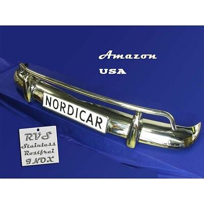 Volvo Amazon front bumper complete set stainless steel USA style - 653294
