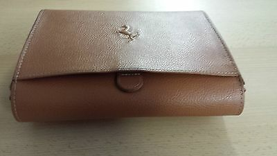Genuine Used Ferrari Leather Document Holder Pouch