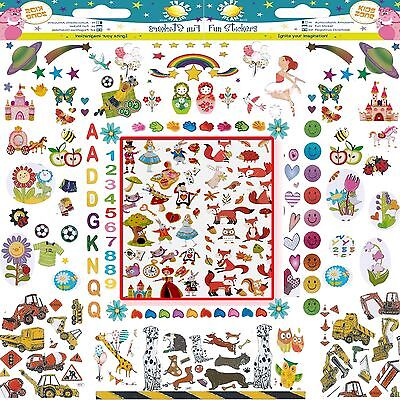 Craft Planet Kids Fun Stickers   Holographic   Cards   Letters   Numbers   Stars