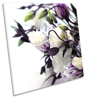 Floral Flower Botanical SQUARE CANVAS WALL ART Print Picture