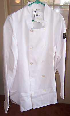 Chef 24/7 Revival Jacket Large Poly Cotton Blend NWT White Buttoned Look