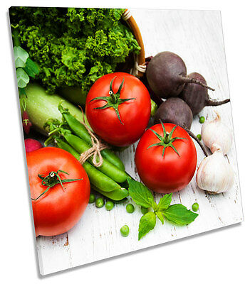 Tomato Vegetables Kitchen SQUARE CANVAS WALL ART Picture Print