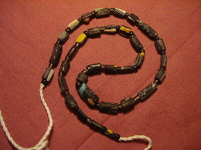 Ancient Fragment Glass Beads Strand Roman 200 BC  #1656