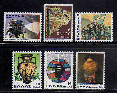 GRECIA/GREECE 1980 MNH SC.1356/1361 Firemen and divers