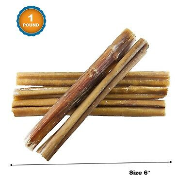 Best Quality Bully Sticks for Dogs 6 Inches (1 lb) Beef Dog Chews - 123 Treats