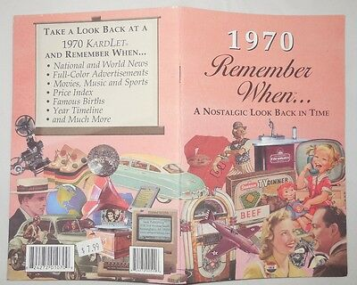 1970 Remember When A Nostaglic Look Back in Time... Year Specific 24-pg Booklet