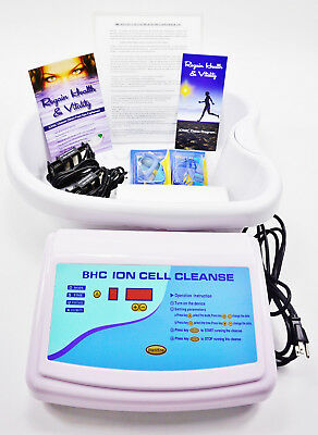 BHC Ionic Cell Cleanse Professional Detox Ion Foot Spa. Lab Tested & Certified
