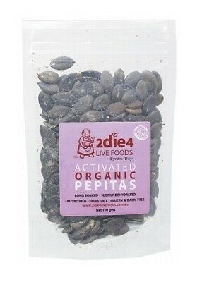 2die4 Live Foods Activated Organic Pepitas (Pumpkin Seeds) 100g