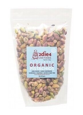 2die4 Live Foods Activated Organic Australian Pistachios Grade A 250g