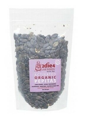 2die4 Live Foods Activated Organic Pepitas (Pumpkin Seeds) 250g