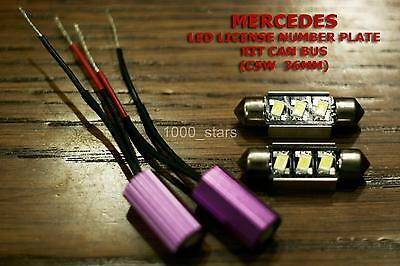 2x C5W 36MM MERCEDES SPORTCOUPE CANBUS LED LICENSE PLATE MATRICULA LIGHT TARGA