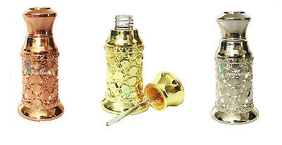 High Quality 3ml Decorative Empty Attar Bottle Oil - Gold | Silver | Rose Gold