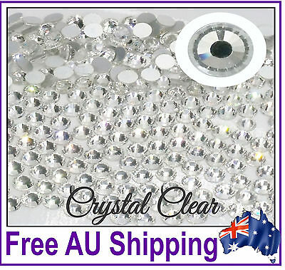 AAA Quality GLASS Rhinestones by Gypsy Bling ~ Crystal Clear ~Free Shipping