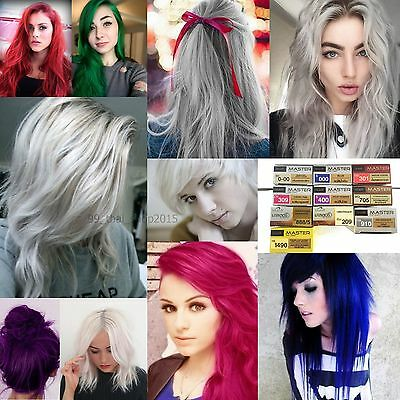 DCASH Master Hair Color Cream Permanent Dye Grey,White,Violet,Silver,Blue,Pink