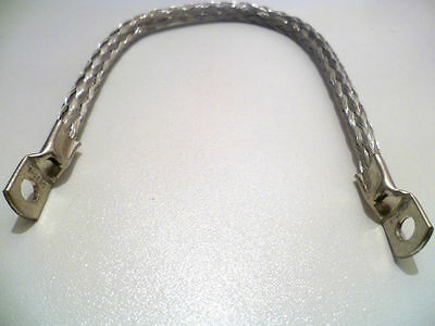 """9"""" Classic Car Earth Strap, Battery Lead, Cable, Flexible Tinned Copper Braid"""