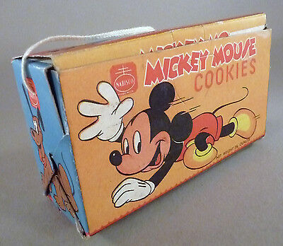 Mickey Mouse Cookies Box - circa 1940 ~~ cookie ~~ high grade