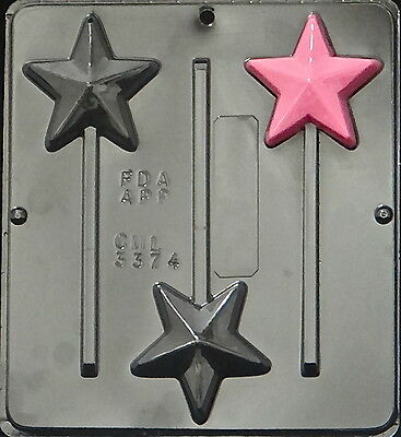 Star Lollipop Chocolate Candy Mold  3374 NEW
