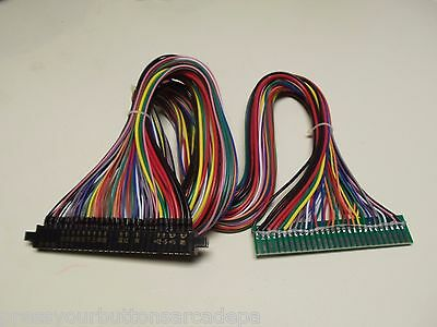 3' FULL Jamma Harness Extension - Wires at ALL Connections