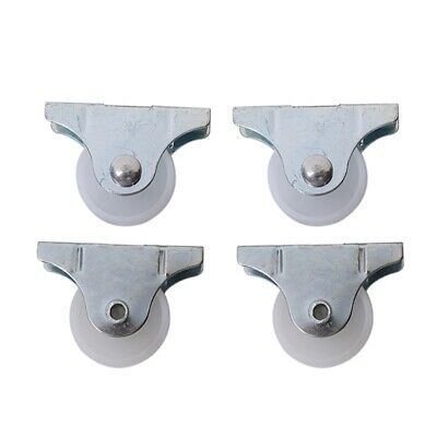 4Pcs Practical White Plastic 25mm Diameter Furniture Replacement Caster Wheel N3