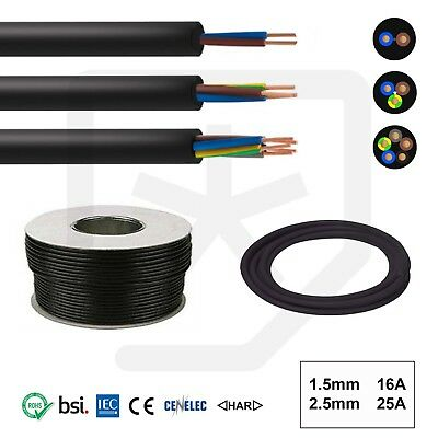 OFFER Rubber Cable 2, 3 core 1.5 & 2.5mm H07RN-F Heavy Duty Pond Outdoor Sockets