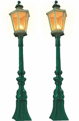 Busch 8621 NEW GAUGE 1/G GREEN GAS LAMPS