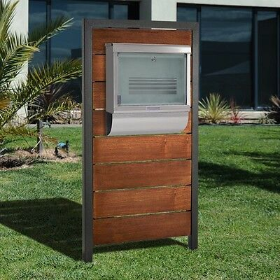SALE Milkcan Timber Letterbox Glass Wallbox Mailbox Stainless Steel