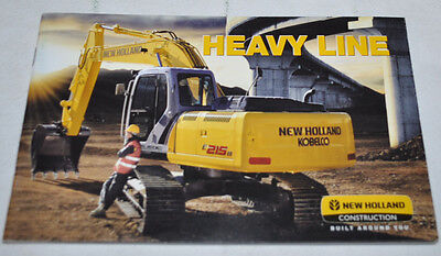 New Holland Heavy Line Construction Excavator Tractor Brochure Prospekt