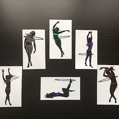 Hula Hoop Girl Clear Stickers - Collect Them All Sale!