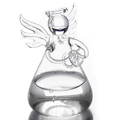Transparent Angel Crystal Glass Vase Flower Containers Home Decoration N3
