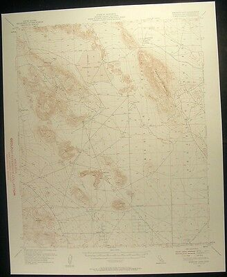 Emerson Lake California San Bernardino 1958 vintage USGS original Topo chart map