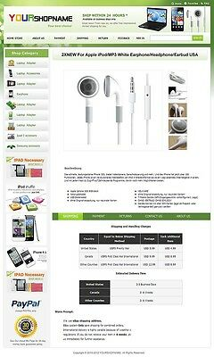 eBay Professional Design Listing Template and Store Layout Theme Green ada
