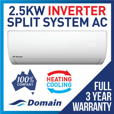 New Domain Premium 2.6Kw Inverter Reverse Split System Air Conditioner Ac