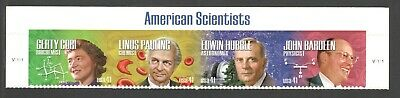 4224-27 American Scientists Top Header Strip Of 4 Mint/nh (Free shipping)