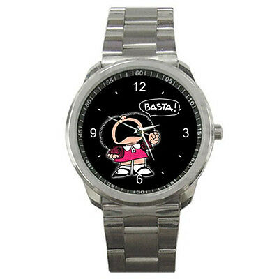 NEW MAFALDA basta Funny for sport metal WATCH FREE shipping