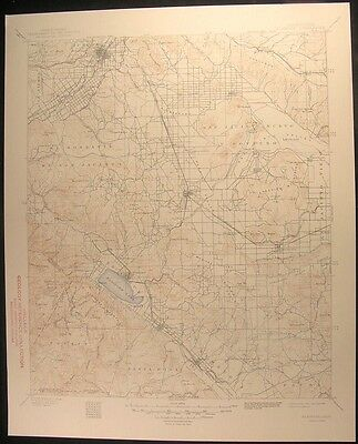 Elsinore California Murrieta Riverside 1948 vintage USGS original Topo chart map