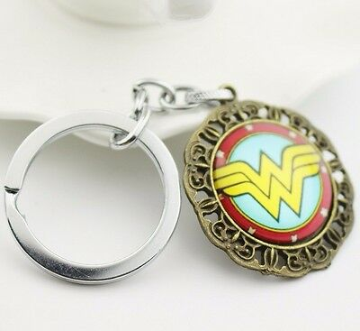 brand new Wonder Woman Logo  Metal Key chain ring keychain keyring